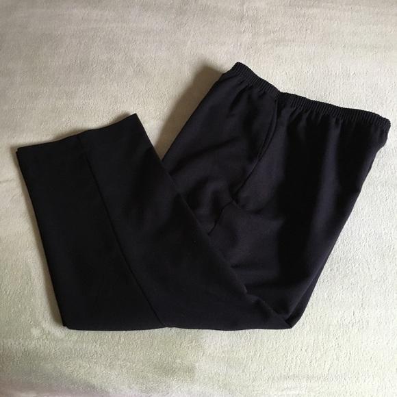 Alfred Dunner black elastic waistband dress pants